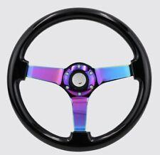 Black Neo Chrome 14inch Steering Wheel Drift Rally Dish