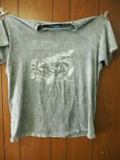 Fleetwood Mac 1990's Acid Washed Concert Tee-Shirt with Discography size Xl