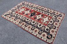 "FREE SHIPPING - Vintage Handmade Turkish Oushak Area Rug Carpet 79""x52"""