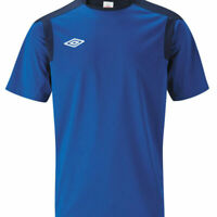 Umbro Mens Football Running Gym T Shirt Jersey Blue XL XXL (2XL)