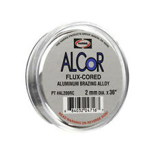 "Harris Alcor Flux Cored Aluminum Alloy 2mm x 36"" Brazing Alloy Solder, AL200RC"