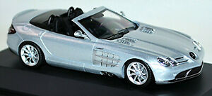 Mercedes Benz SLR Mclaren Roadster Crystal Laurit Argent Métallique 1:43