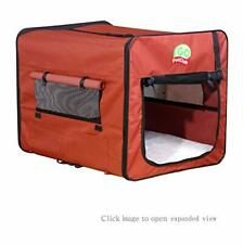 """Portable Dog Kennel Soft Pooch Pet Crate Travel Carrier House Bed Large Size 42"""""""