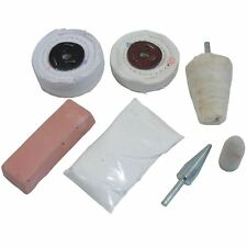 Kit de polissage de jantes alu 8pc Roue en aluminium Brosse à polir / Kit POL07