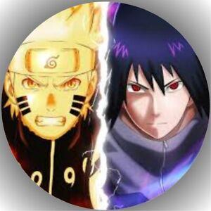 Tortenaufleger Geburtstag Tortenbild Fondant Oblate Naruto Sasuke L14