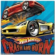 """HOT WHEELS """"SPEED CITY"""" PACK OF 16 LUNCH NAPKINS-BIRTHDAY PARTY SUPPLIES"""
