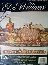 "NEW ELSA WILLIAMS AN APPLE A DAY COUNTED CROSS STITCH KIT 27"" x 5"""