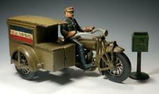 1930's Hubley Indian MOTORCYCLE US AIR MAIL PACKAGE TRUCK with COURIER~Beautiful