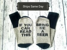 Valentines Day Gift Ideas for him Personalized Men's Beer Socks/Husband/Birthday