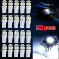 20pcs T10 5050 W5W 5 SMD 194 168 LED White Car Side Wedge Tail Light Lamp Bulb ^