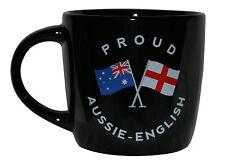 PROUD AUSSIE - ENGLISH TEA COFFEE MUG AUSTRALIAN SOUVENIR GIFT ENGLAND BLACK