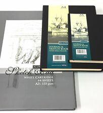 A3 A4 A5 Sketch Book Pad Premium Quality White/Ivory Paper Hardback Case