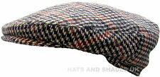 Hawkins Country Collection Mens Boys Brown Multi Tweed Flat Cap Hat 56 Cms