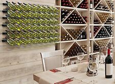 Wine Bottle Display Rack Organizer 9-Bottle Wall-Mounted Kitchen Stylish Decor