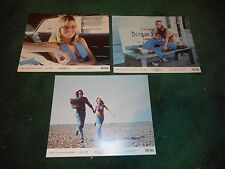 DIRTY MARY, CRAZY LARRY - 3 ORIGINAL LOBBY CARDS - 1974 - SUSAN GEORGE