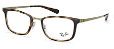 d58b4a1336 NEW AUTHENTIC RAY- BAN EYEGLASSES RB6373M 2923 BROWN BRUSHED GREEN 52-20-145