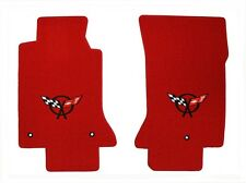 NEW! RED FLOOR MATS 1997-2004 C5 Corvette Embroidered Flag Emblem Logo Pair