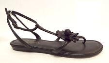 COLE HAAN Size 8 Black Ankle Strap Flower Sandals Shoes