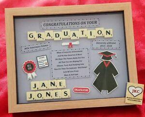 Personalised GRADUATION GIFT FRAME Keepsake Degree Congratulations