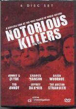 Notorious Killers [6 DVD BOXSET] Ted Bundy Charles Manson Jeffrey Dahmer and mor