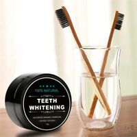 Activated Charcoal Teeth Whitening Organic Powder Carbon Coco with Toothbrush US