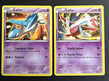 XY Pokemon Cards LATIOS 13/30 & LATIAS 14/30 - 2015 TRAINER KIT NON HOLO PROMOS
