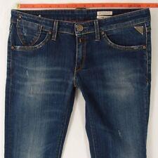Damen Damen Replay W463 Benoules Stretch Straight blue Jeans W29 L32 Gr 10