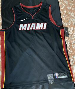 Nike Miami Heat Sz 56 XXL swingman game style authentic wade lebron lot jersey