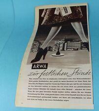 Reklame/Werbung - Original 1953 - Arwa , feinster Perlonstrumpf    /S83