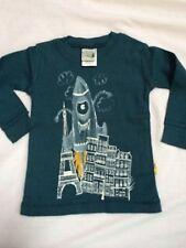 Boys Boutique 12-18 months Charlie Rocket Shirt NEW NWT Rocket Ship Green L/S