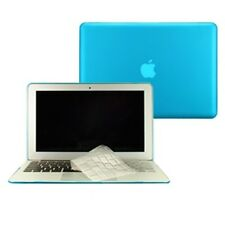 """2in1 Rubberized AQUA BLUE Case for Macbook AIR 11"""" A1370 with TPU Keyboard Cover"""
