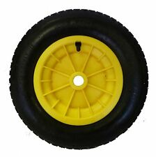 "YELLOW wheelbarrow / Launching Trolley Wheel Pneumatic 14"" Tyre 3.50 - 8"