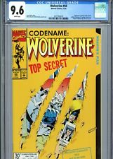 Wolverine #50 CGC 9.6 White Pages Die-Cut Cover Marvel Comics 1992