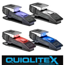 New QuiqLite X Rechargeable Clip-On Emergency Services Safety Dual LED Light