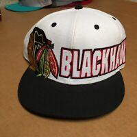 Vintage Blackhawks NHL Hockey Red & Black Forty Seven 47 Brand Snapback Hat Cap