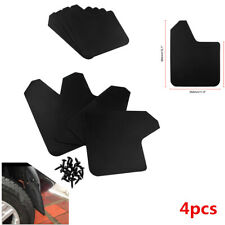 4Pcs Black Plastic Universal Car SUV Mud Flaps Mudguards Fenders Splash Guards