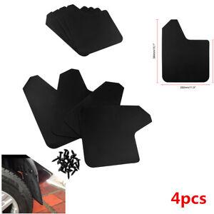 4Pcs Black Plastic Universal Car SUV Mud Flaps Mudguards Fenders Splash Guards