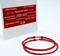2 X Red String Adjustable Bracelet Good Luck Men Gift Women Protection Kabbalah