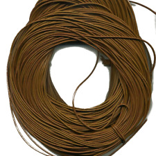 Greek Round Leather Cord 2 mm Light Brown (Tobacco) 10 Meter (11 Yrd)