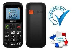 Téléphone Mobile Portable Dual pour Sénior avec Touche SOS ~ MaxCom MM426