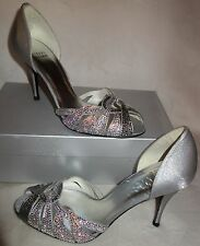 Stuart Weitzman 'Frolic' Rhinestone Sandals silver sz 39.5 US SZ 9 new