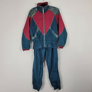 Vintage East West Full Track Suit Women's Size Medium Green & Red