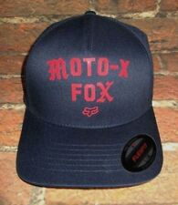 MENS FOX MOTO-X FLEXFIT FITTED BLUE HAT CAP SIZE L/XL