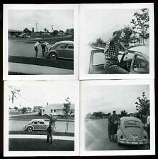 Vintage 1965 era  VW Volkswagen Bug Set of 4 snap shot photos