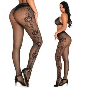 Romantic Women Elastic Stockings Sexy Rhinestone Fishnet Fashion Pantyhose W28