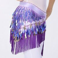 New Belly Dance Hip Scarf Women Dancing Triangle Tassel Sequins Skirt Belt Wrap