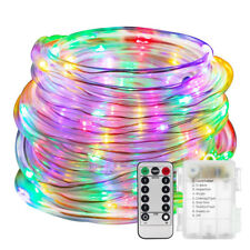 LED Rope Lights Battery Operated Waterproof 39ft 120LEDs String + Remote Timer