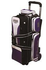 Storm Rolling Thunder 3 Ball Bowling Roller Bag Color Black Purple