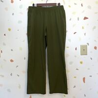 Chicos SZ 2 US Large Olive Green Elastic Waist Pull On Casual Active Pants