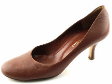 LKNW Women's Brown Classic BRUNO MAGLI Leather Pumps Heels 6  ITALY